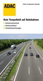 Kein Tempolimit auf Autobahnen - ADAC
