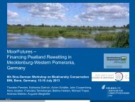 MoorFutures–Financing peatland rewetting in Mecklenburg-Western ...