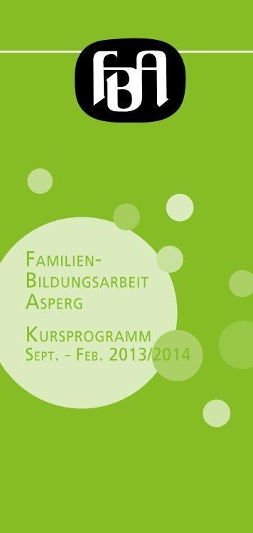 Programm Februar - Juli 2014 - Familienbildungsarbeit Asperg (FBA)