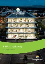 Nachhaltigkeitsbericht 2012 - Energiedienst AG