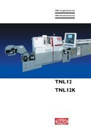 TNL12 TNL12K - INDEX-Werke GmbH & Co. KG Hahn & Tessky
