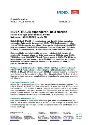 INDEX-TRAUB expanderar i hela Norden [55,84 KB]