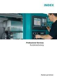 Kundenschulung - INDEX-Werke GmbH & Co. KG Hahn & Tessky