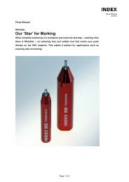 Our 'Star' for Marking - INDEX-Werke GmbH & Co. KG Hahn & Tessky