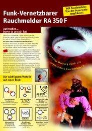 Funk-Vernetzbarer Rauchmelder RA 350 F - Indexa