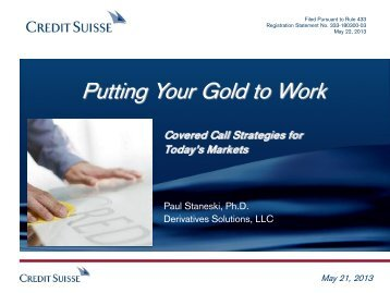 Download the Expert Series: Putting Your Gold to Work