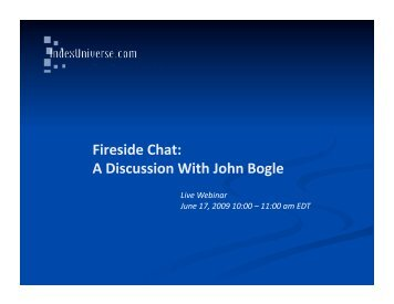 Download the discussion with John Bogle Presentation