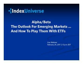 Download the Emerging Markets Outlook Presentation