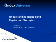 Understanding hedge fund replication strategies - IndexUniverse.com