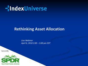 Rethinking Asset Allocation - IndexUniverse.com