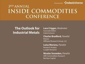 The Outlook for Industrial Metals - IndexUniverse.com