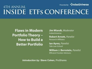 Flaws in Modern Portfolio Theory - IndexUniverse.com