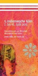 Indienwoche 2013 1 - Indien - Universität zu Köln