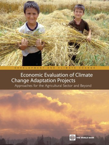 economic evaluation of climate change aDaPtation ProJects