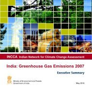 India: Greenhouse Gas Emissions 2007 - Ministry of Environment ...