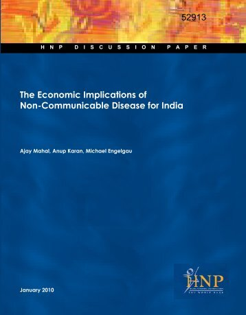 The Economic Implications of Non-Communicable Disease for India ...