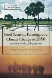 Food Security, Farming, and Climate Change to 2050 - International ...