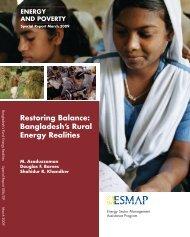 Bangladesh's Rural Energy Realities - India Environment Portal
