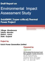 Draft EIA Report of 5x660MW Super Critical Thermal Power Project