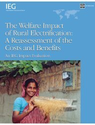 The Welfare Impact of Rural Electrification: A ... - World Bank