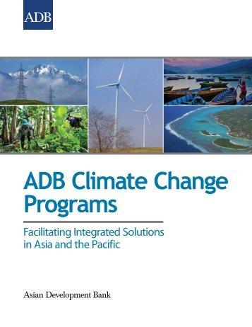 ADB Climate Change Programs - India Environment Portal
