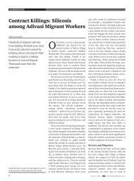 contract Killings: Silicosis among adivasi migrant Workers - India ...