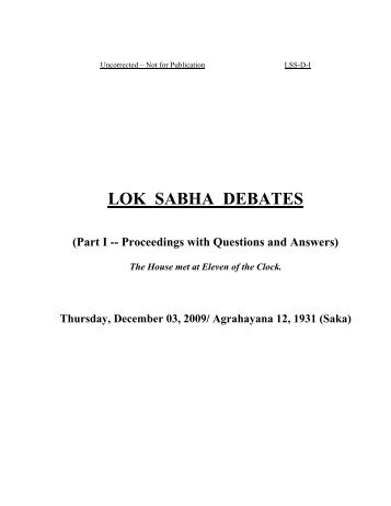 debate-Climate change-Parliament-1.pdf - India Environment Portal