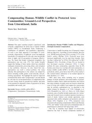 Compensating Human–Wildlife Conflict in Protected Area - India ...