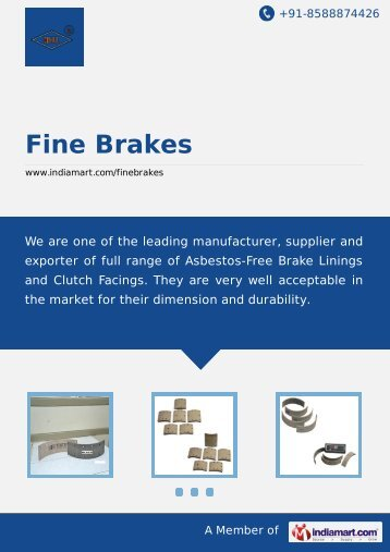 Supplier & Manufacturer of Brake Lining, Asbestos ... - IndiaMART