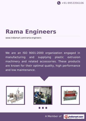 Supplier & Manufacturer of Plastic Extrusion Machinery ... - IndiaMART
