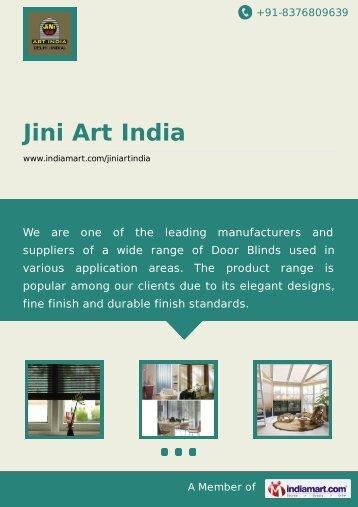 Supplier & Manufacturer of Motorized Blinds, Vertical ... - IndiaMART