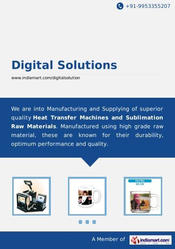 Digital Solutions, New Delhi - Supplier & Trader of Heat ... - IndiaMART