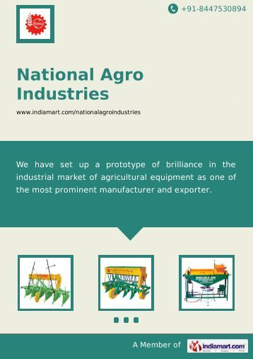 Supplier & Manufacturer of Agriculture Machinery ... - IndiaMART