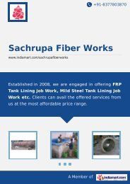 Sachrupa Fiber Works, Pune - Service Provider of FRP ... - IndiaMART