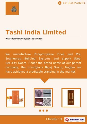 Tashi India Limited, Nagpur - Supplier & Manufacturer ... - IndiaMART