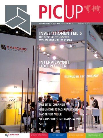 PIC UP Magazin 01/11 - C.a.picard Gmbh & Co. KG