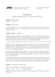 Blatt 2 - Algorithmik I - Karlsruher Institut für Technologie (KIT)
