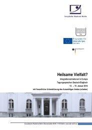 Programm Heilsame Vielfalt 171213 - Europäische Akademie Berlin