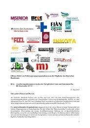 1 Offener Brief von Nichtregierungsorganisationen an die Mitglieder ...