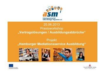 Hamburger Mediationsservice Ausbildung - Good Practice Center