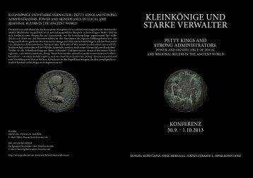 KleinKönige und starKe Verwalter - Geschichte