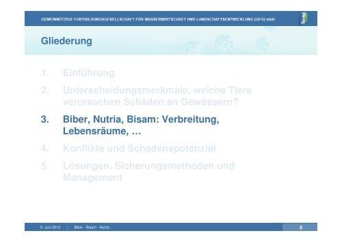 Biber-Bisam-Nutria-DWA-Grundkurs-5 -x Logo klein ... - GfG