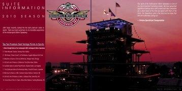 S U I T E I N F O R M A T I O N - Indianapolis Motor Speedway