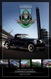 CELEBRATION OF AUTOMOBILES May 14-15, 2011 - Indianapolis ...