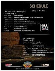 May 14-15, 2011 - Indianapolis Motor Speedway