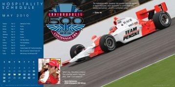 H O S P I T A L I T Y S C H E D U L E - Indianapolis Motor Speedway