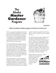 Master Gardener - Indian Country Extension