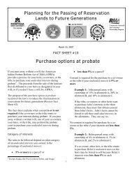 AIPRA Factsheet 10 - Indian Country Extension
