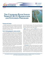 The Colorado River Indian Tribes - Indian Country Extension
