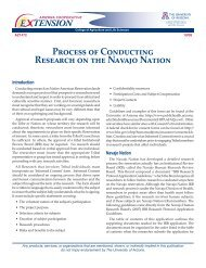 Process of Conducting Research on the Navajo Nation